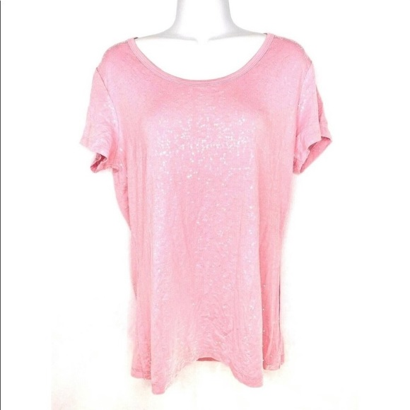 Pink sequin blouse